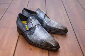 handgemaakte schoenen kroko koos